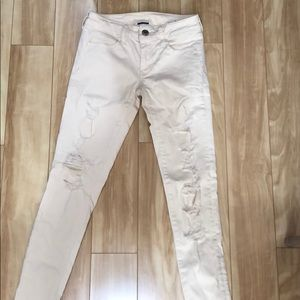 American Eagle off white jeans
